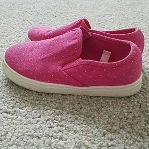 Toddler girl pink Circo slip on sneakers